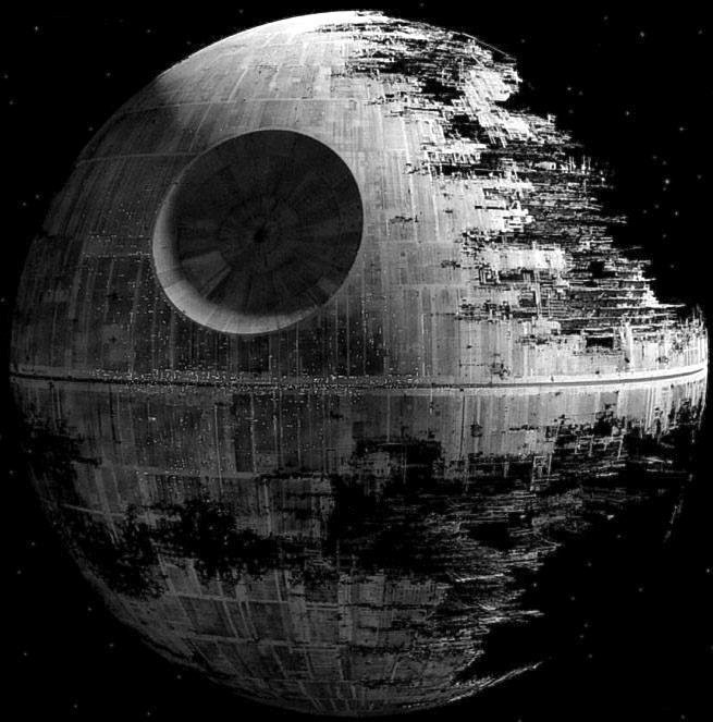 Star Wars famous Death Star